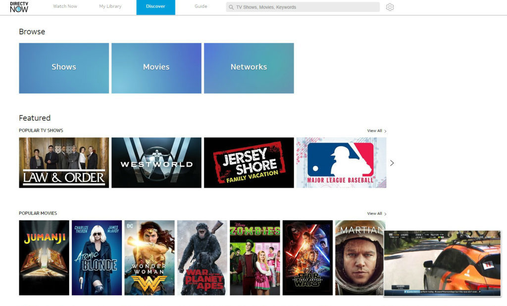 DIRECTV NOW Review 2019 – Channels List, Costs & More